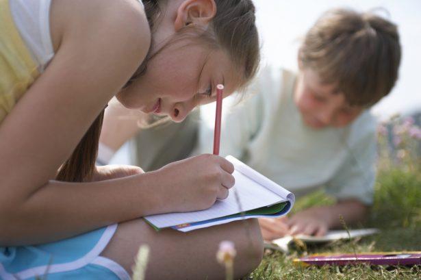 Learn Work Explore - Inglés en Familia en Reino Unido - Niños haciendo deberes - resized
